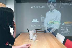 holograma camarero